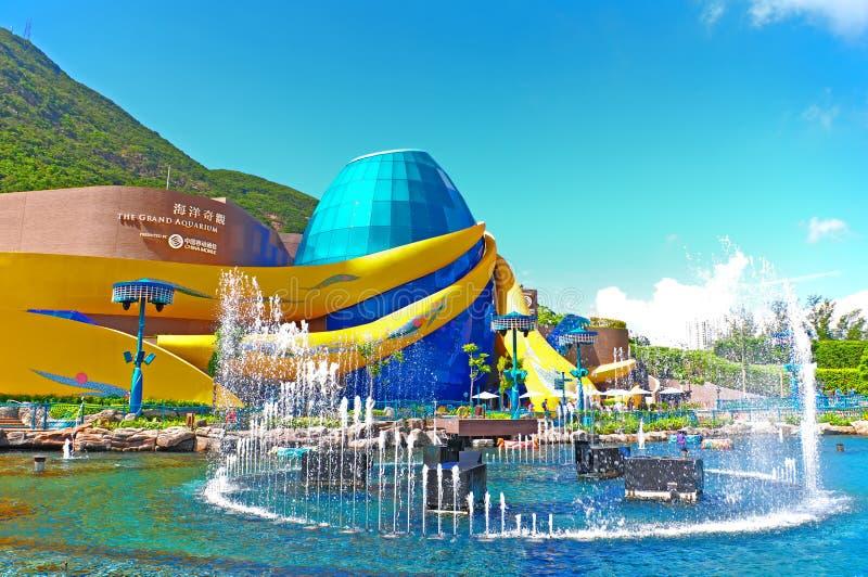 o aquário grande do parque do oceano fotos de stock royalty free