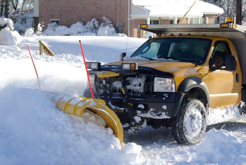 O arado de neve fotografia de stock royalty free