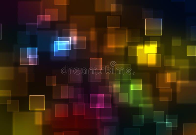 O arco-íris abstrato esquadra o fundo ilustração do vetor