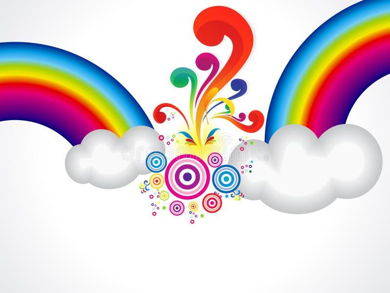 O arco-íris abstrato explode a nuvem ilustração stock