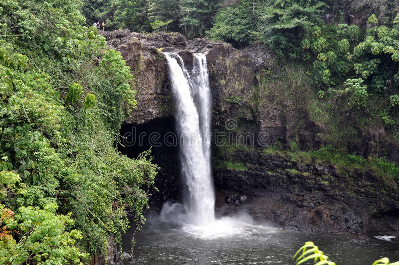O Arco-íris Cai (ilha Grande, Havaí) Fotos de Stock Royalty Free