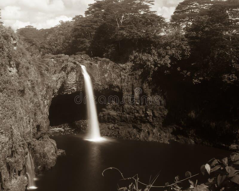 O arco-íris cai na ilha grande Havaí foto de stock royalty free