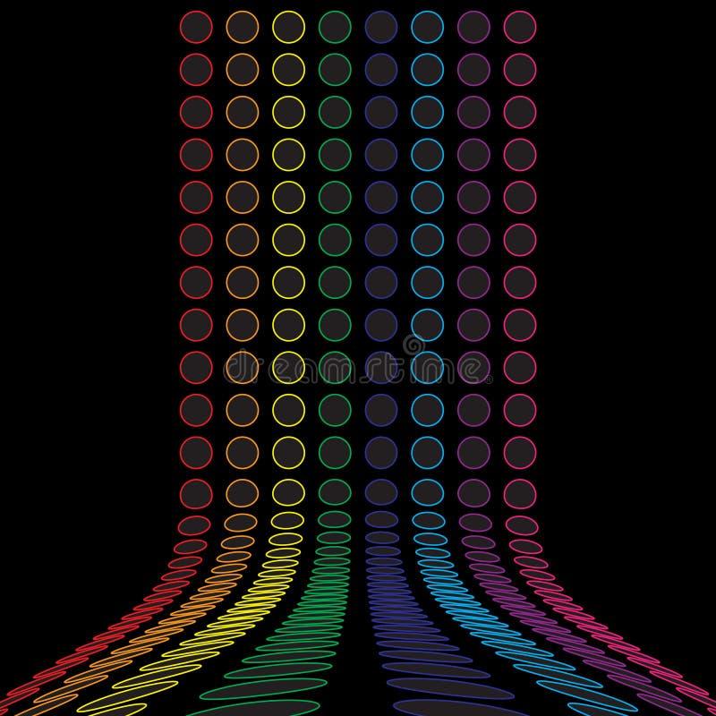 O arco-íris circunda a disposição ilustração stock
