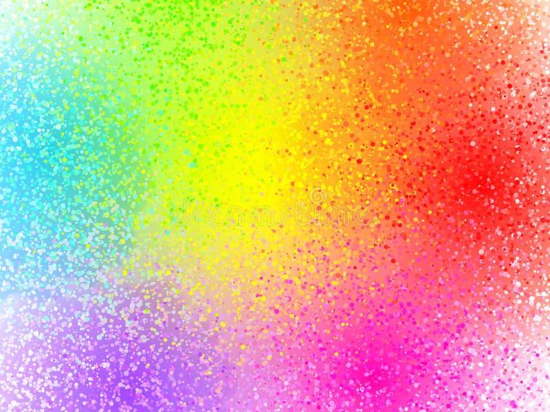O arco-íris colore o fundo pulverizado vetor do sumário da pintura ilustração do vetor