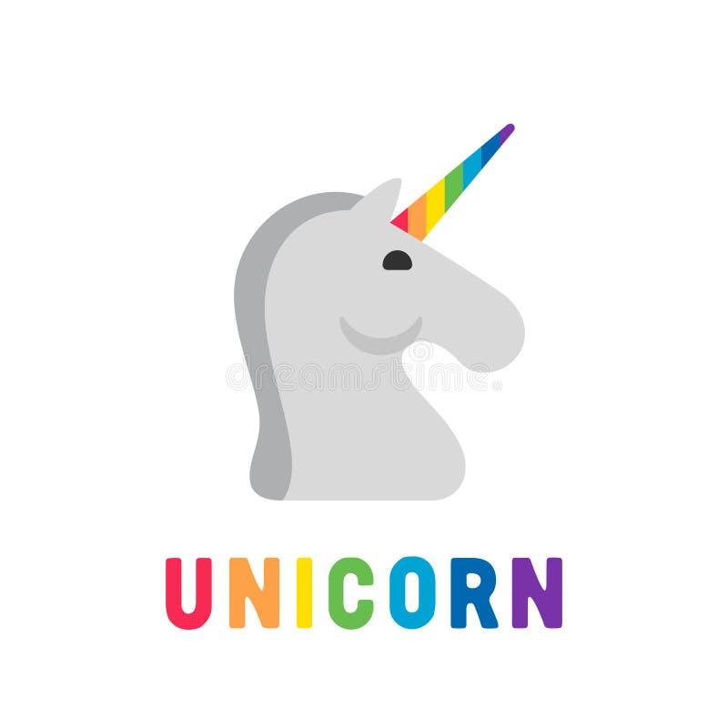 O arco-íris colore o unicórnio ilustração do vetor