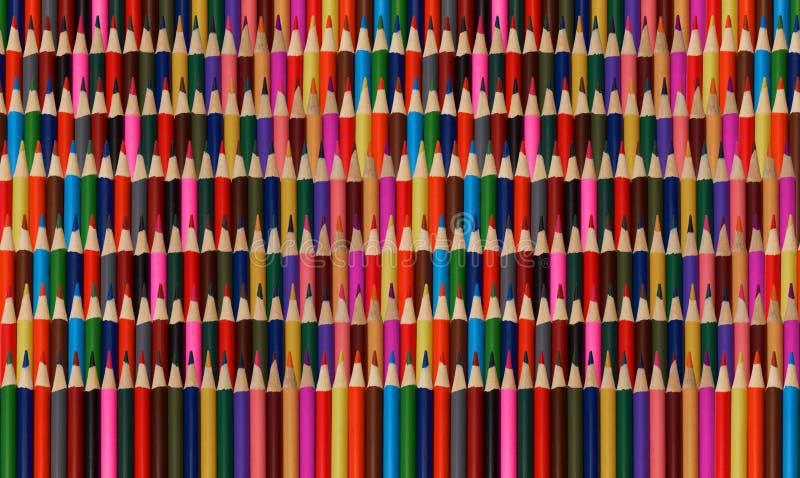 O arco-íris colorido abstrato aponta o teste padrão do fundo dos lápis Contexto do teste padrão do arco-íris Alta resolução muito fotos de stock royalty free