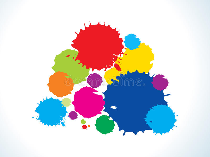 O arco-íris colorido abstrato espirra ilustração royalty free