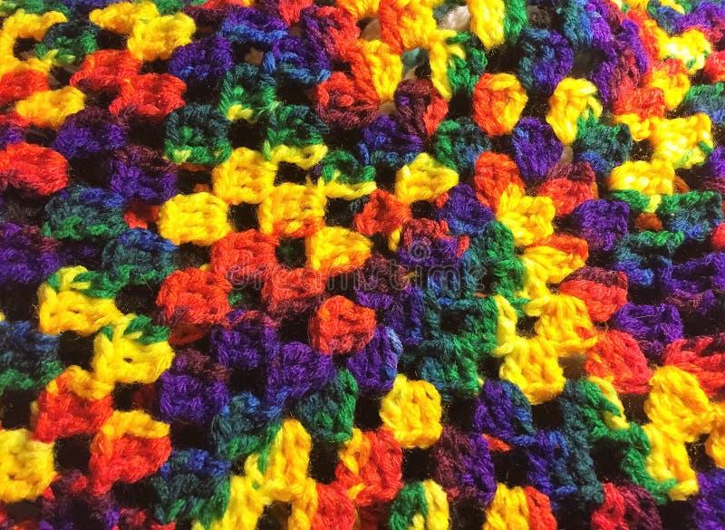 O arco-íris faz crochê foto de stock royalty free