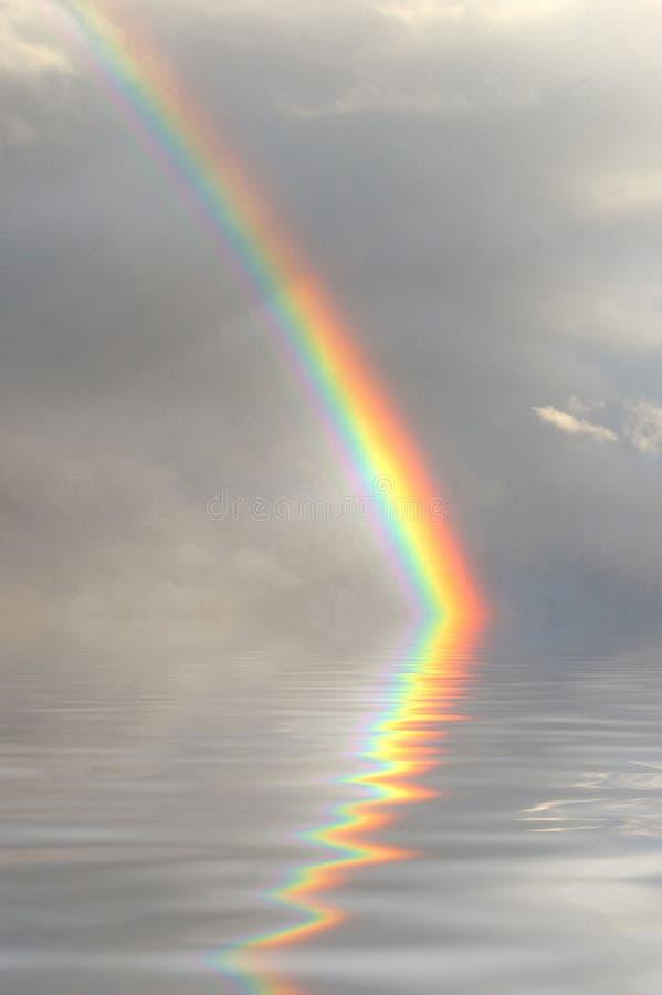 O arco-íris refletiu ilustração do vetor