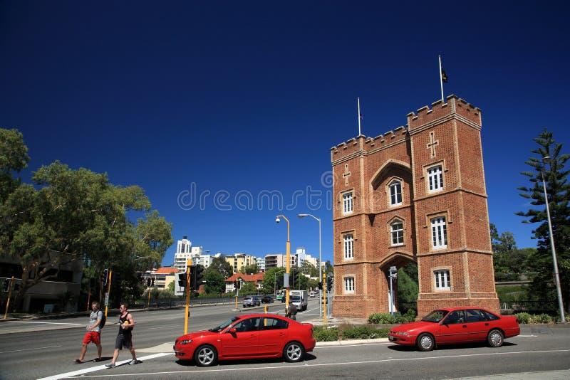 O arco das casernas, Perth fotos de stock royalty free