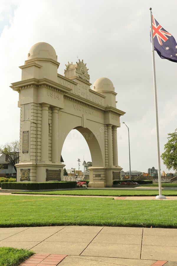O arco de Ballarat de Vitória (1920) é um memorial aos homens do serviço e às mulheres retornados de Ballarat e de distrito fotografia de stock royalty free