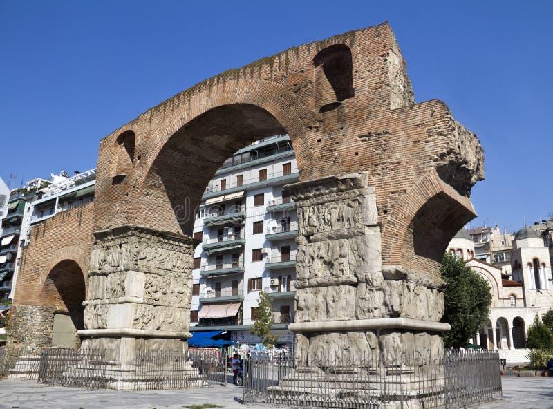 O arco de Galerius fotos de stock royalty free