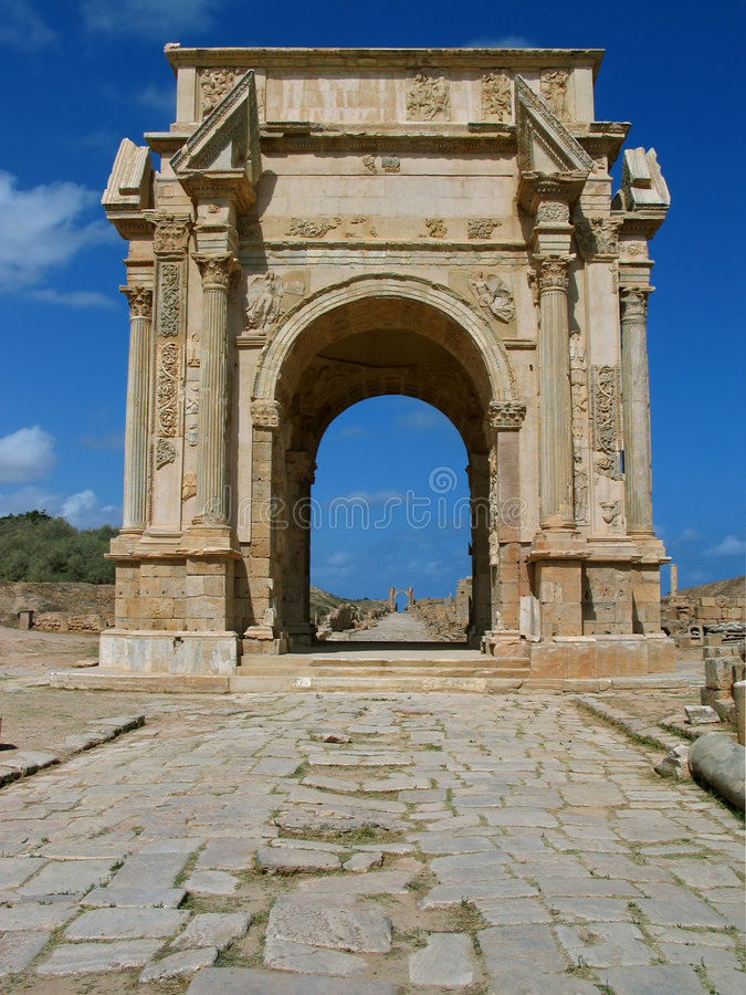 O arco de Severan fotos de stock royalty free