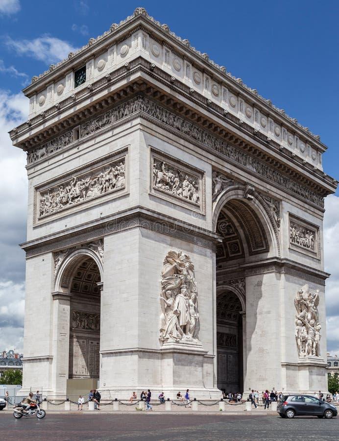 Arco de Triumph Paris imagem de stock