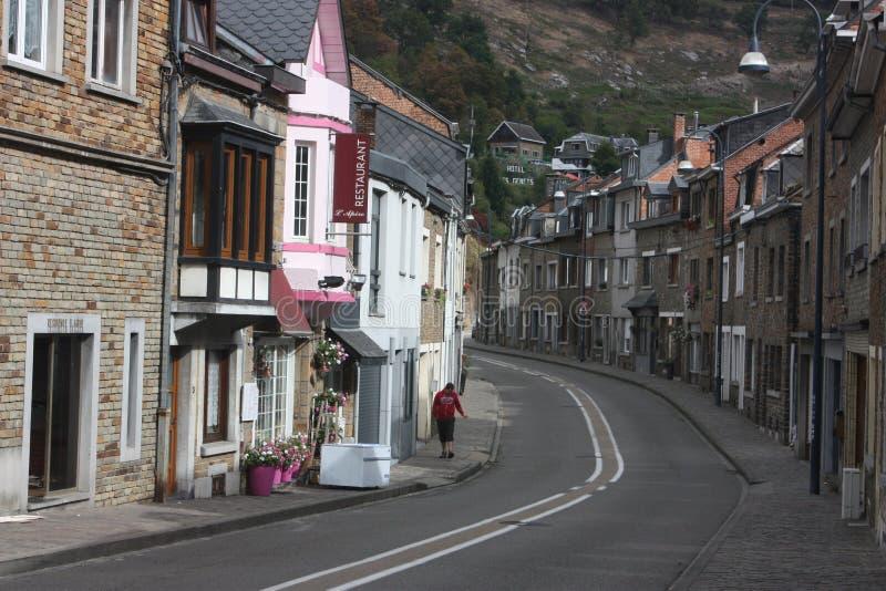 O Ardenne no lugar La Roche em Bélgica imagens de stock