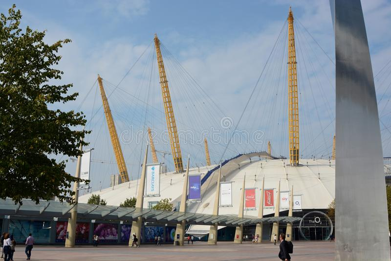 O2 Arena at Greenwich, London, England royalty free stock photo