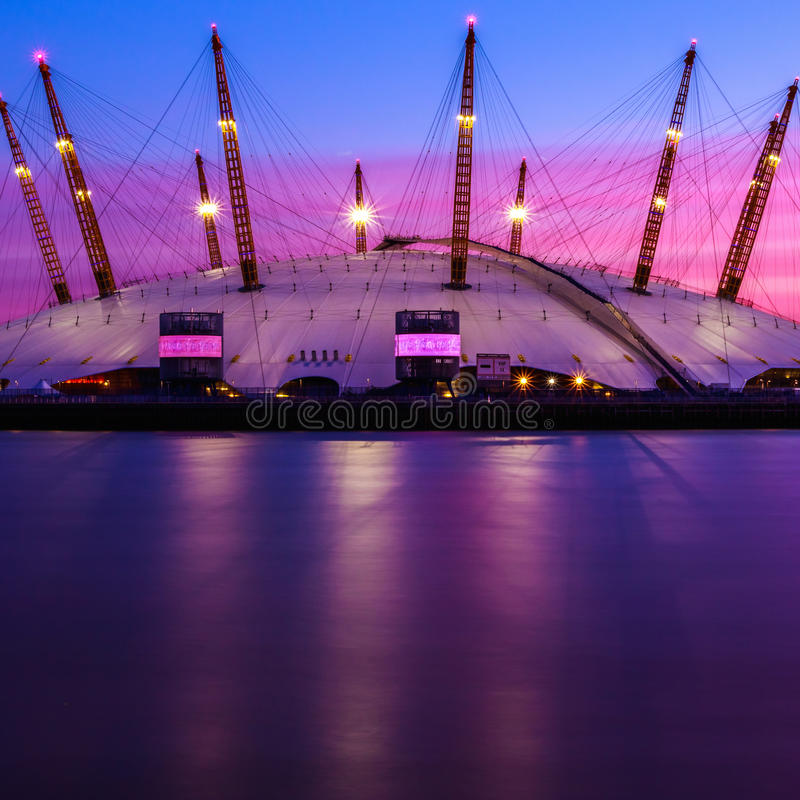The O2 Arena in London royalty free stock image
