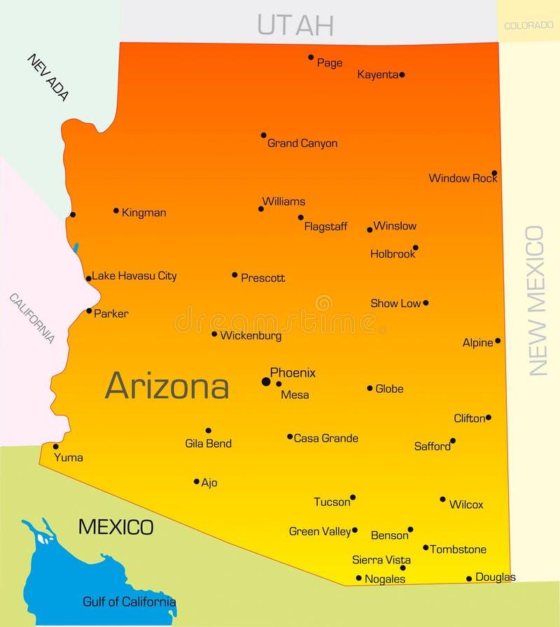 O Arizona ilustração do vetor