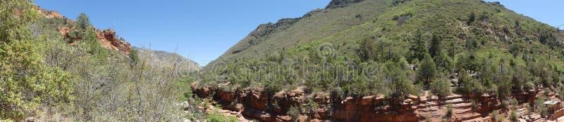 O Arizona, ideia do parque da rocha da corrediça, do A da área da rocha da corrediça e garganta da angra do carvalho imagens de stock