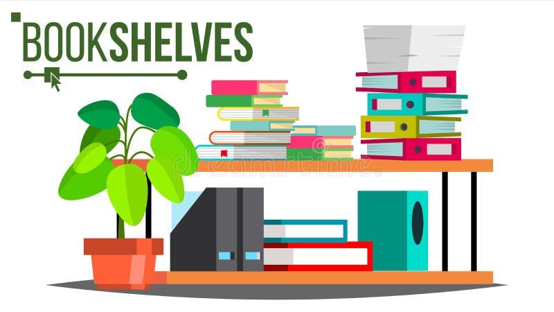 O armazenamento arquiva o vetor Original, livro Dobradores coloridos do escritório Organização da informação Ilustração isolada p ilustração stock