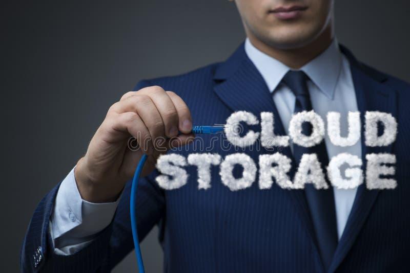 O armazenamento de computação da nuvem nele conceito fotografia de stock royalty free
