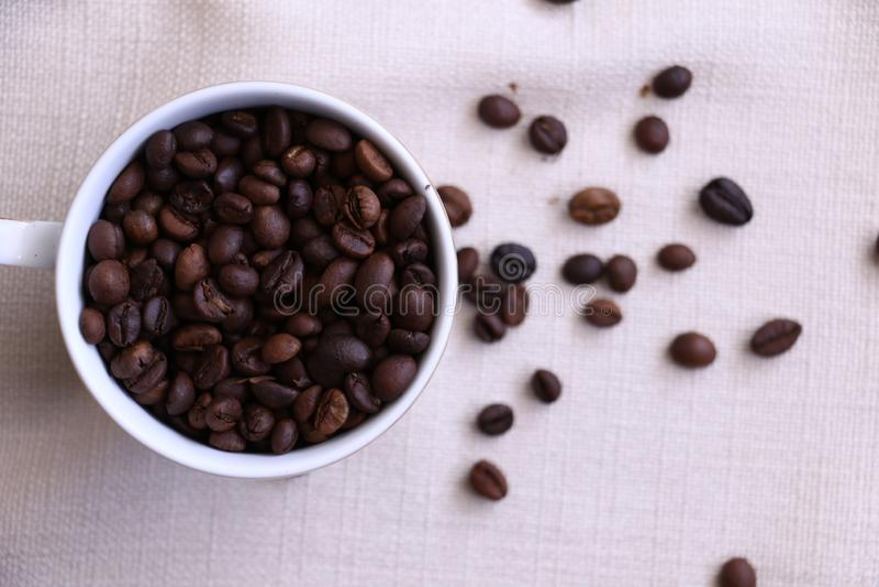 O aroma de feijões de café fotografia de stock