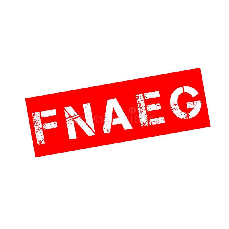 O arquivo nacional automatizado de cópias genéticas em França chamou FNAEG no francês ilustração stock
