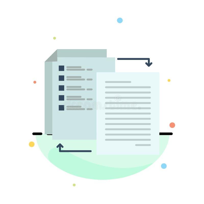 O arquivo, parte, transferência, Wlan, compartilha d molde liso abstrato do ícone da cor ilustração do vetor