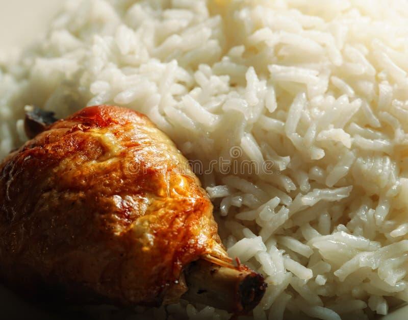 O arroz com chiken fotografia de stock