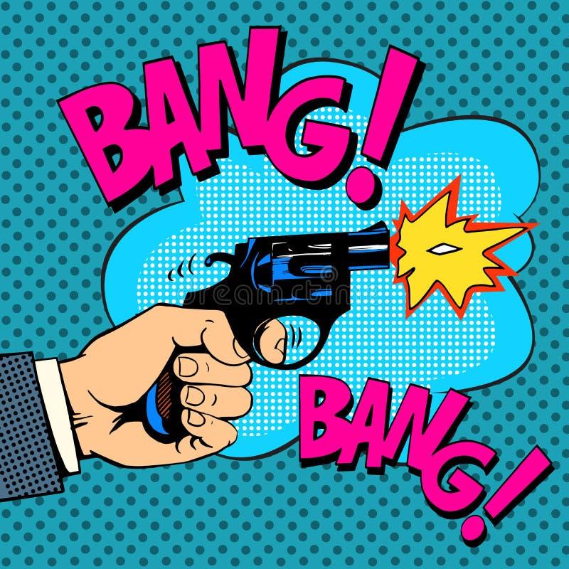 O assassinato do gângster dos tiros de espingarda ilustração do vetor