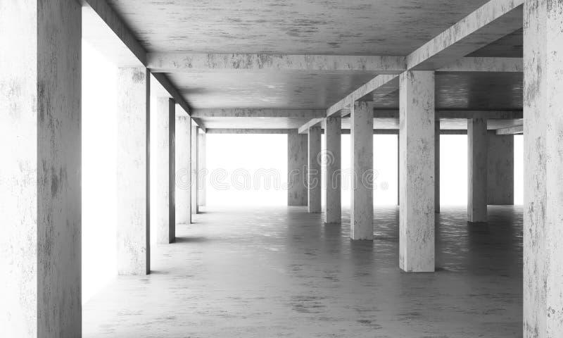 O assoalho abstrato de uma construção moderna sob a construção imagem de stock