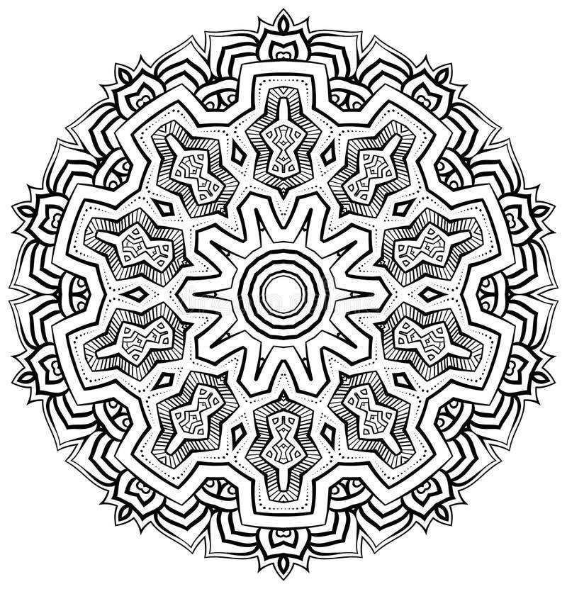 O asteca inspirou a mandala imagem de stock