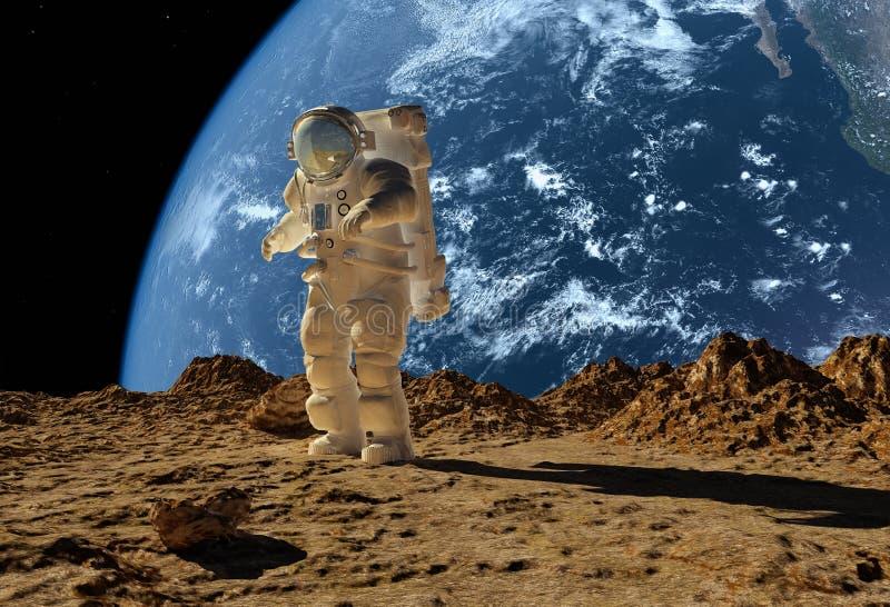 O astronauta ilustração do vetor
