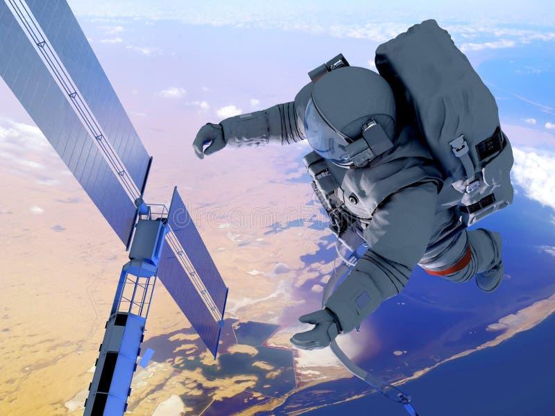O astronauta ilustração stock