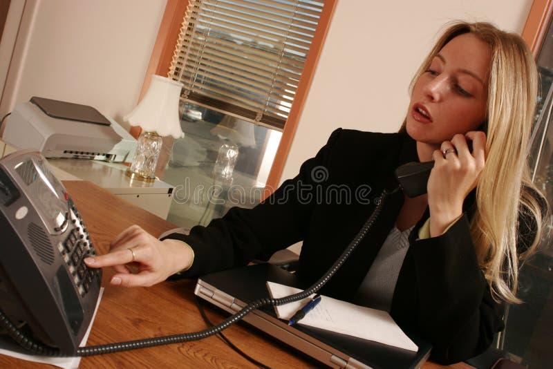 O atendimento de telefone. imagem de stock royalty free