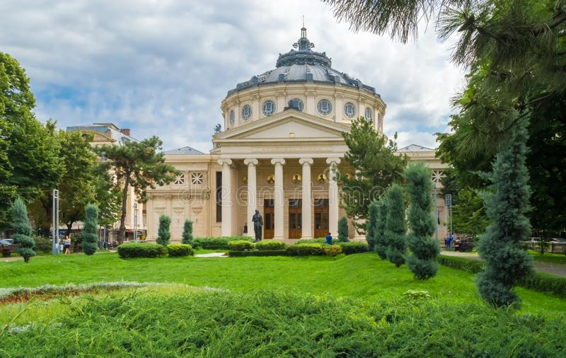 O Atheneum de Bucareste foto de stock royalty free