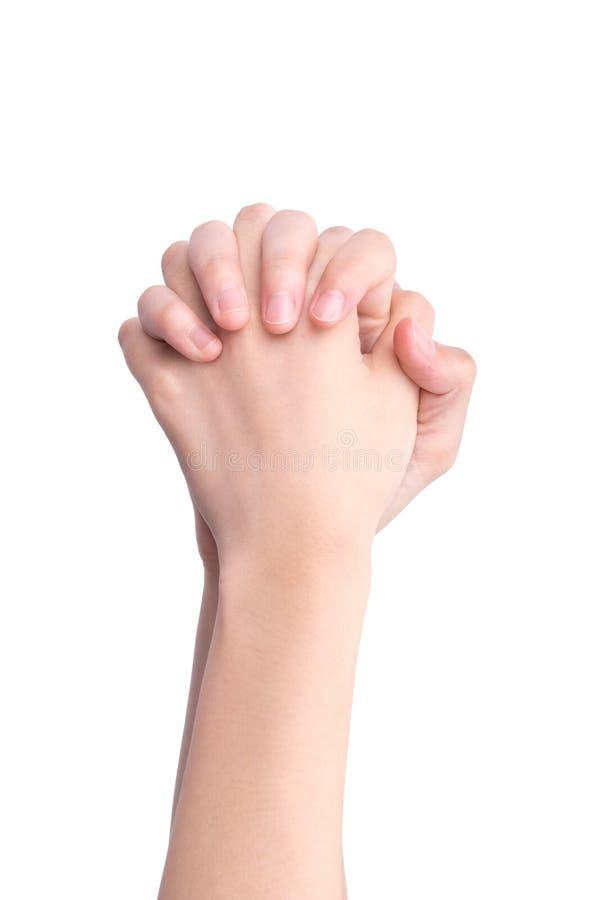 O ato de apertar as mãos imagem de stock