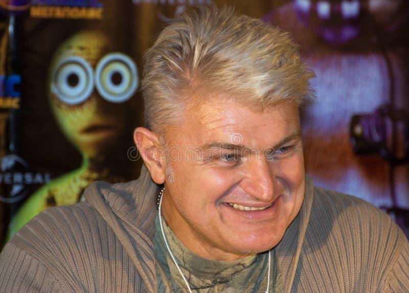 O ator e o showman Vladimir Turchinsky fotos de stock royalty free