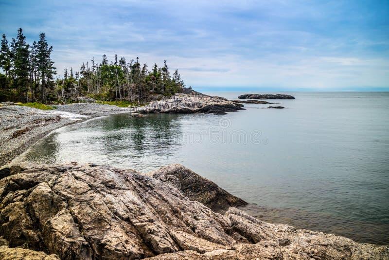 O au bonito Haut de Duck Harbor Isle no parque nacional do Acadia, Maine fotografia de stock royalty free
