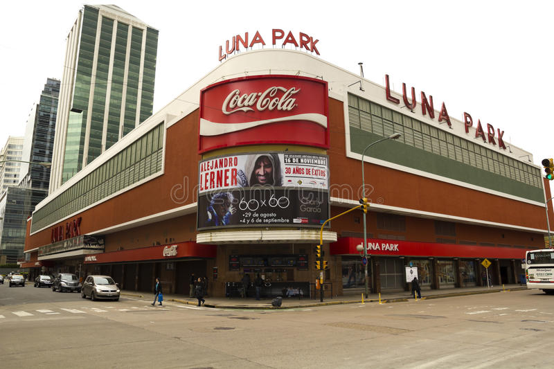 O auditório de Luna Park, Buenos Aires fotografia de stock