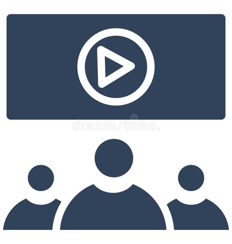 O auditório do cinema isolou o ícone do vetor que pode facilmente alterar ou editar ilustração do vetor