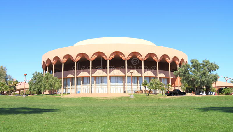 Frank Lloyd Wright: Auditório de Gammage, Tempe, AZ imagem de stock royalty free