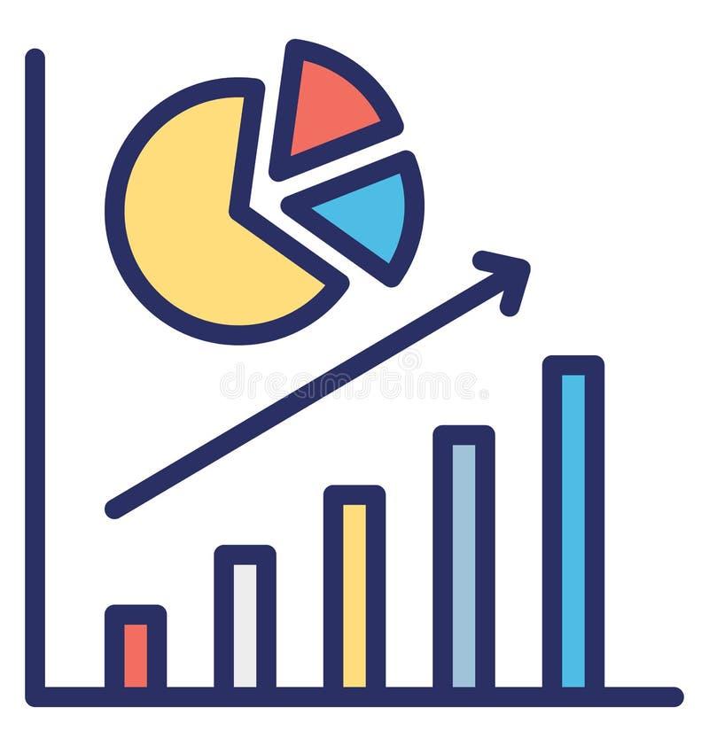 O aumento do negócio do negócio isolou o ícone do vetor que pode facilmente alterar o para levantar o ícone isolado do vetor que  ilustração stock