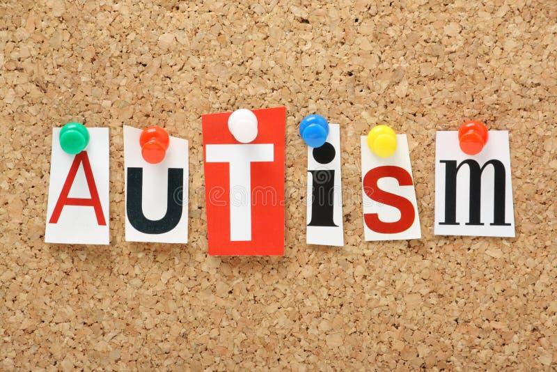 O autismo da palavra fotos de stock