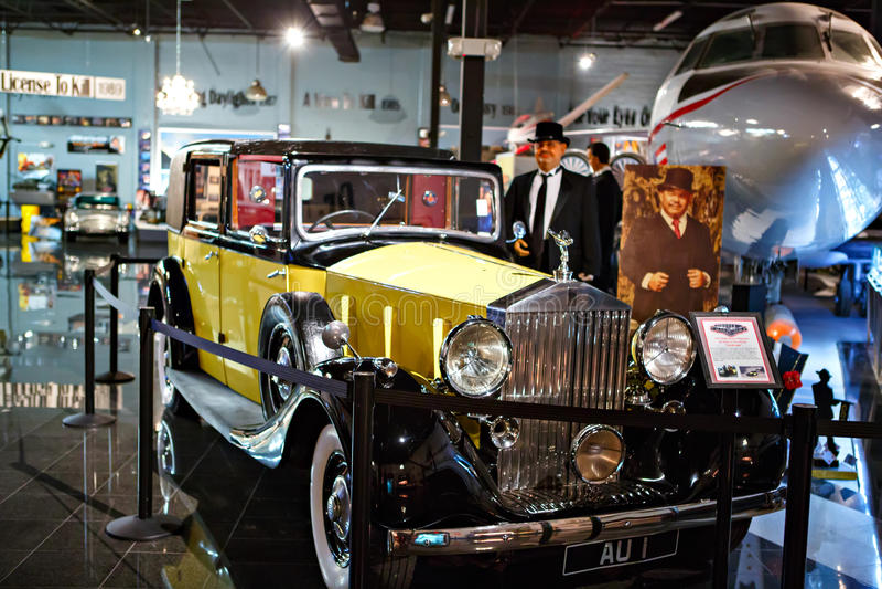 O auto museu de Miami exibe uma coleção do au do vintage e do cinema imagens de stock royalty free