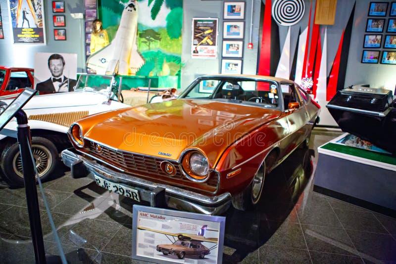 O auto museu de Miami exibe uma coleção do au do vintage e do cinema fotos de stock royalty free
