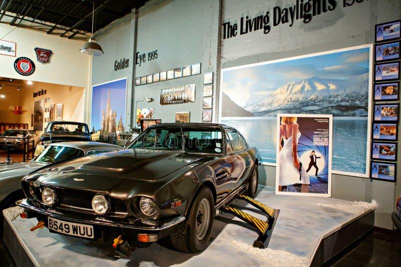 O auto museu de Miami exibe uma coleção do au do vintage e do cinema foto de stock