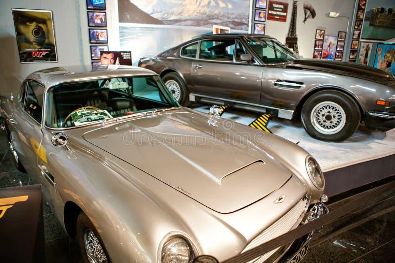O auto museu de Miami exibe uma coleção do au do vintage e do cinema fotografia de stock
