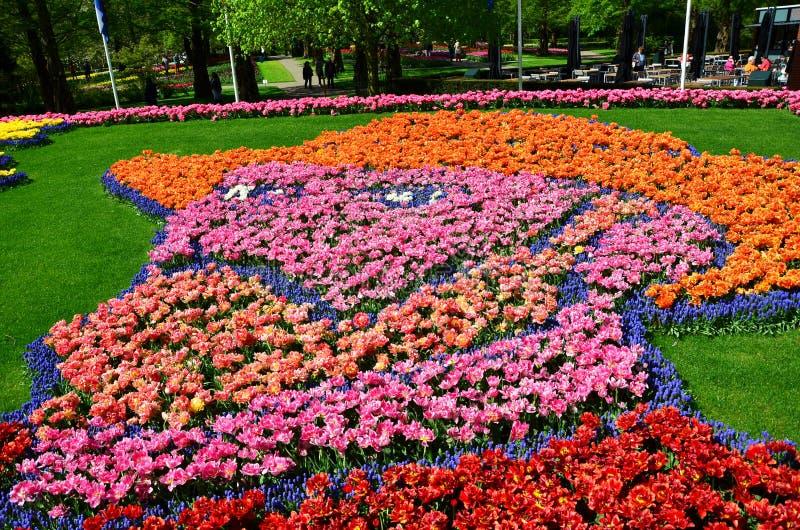 O autorretrato de Vincent van Gogh fez de mil tulipas e g imagem de stock royalty free