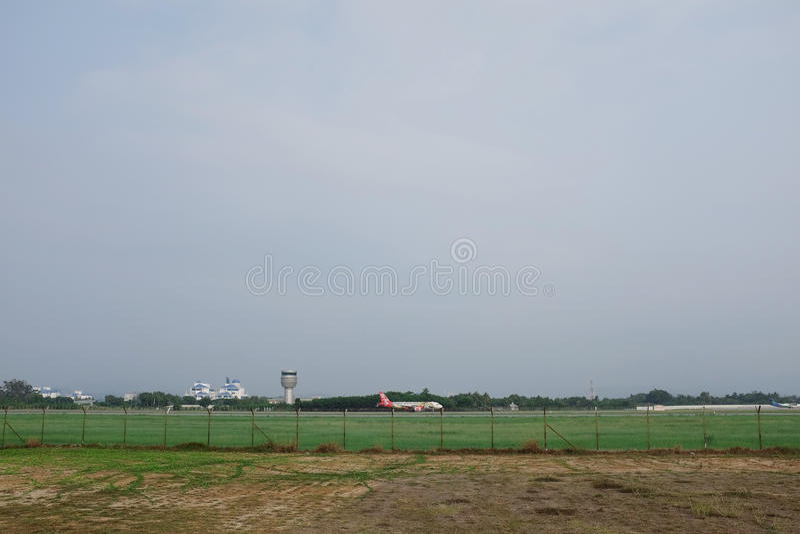 O avião imagem de stock